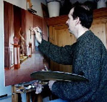 Peter van den Borne aan het werk